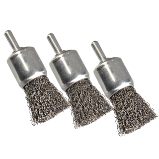 Faser Pinselbürste Nylon 24mm grob Schleifnylon Rundbürste Nylon Bohrmaschine