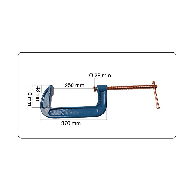 2x Profi C-Schraubzwinge 50mm Klemme Klemmzwinge Schweißerzwinge Leimzwinge